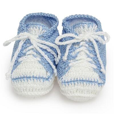 Tênis em tricot Azul/Branco - Roana