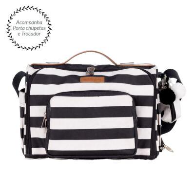Imagem 1 do produto Bolsa para bebe 2 em 1 Julie Brooklyn Black and White - Masterbag