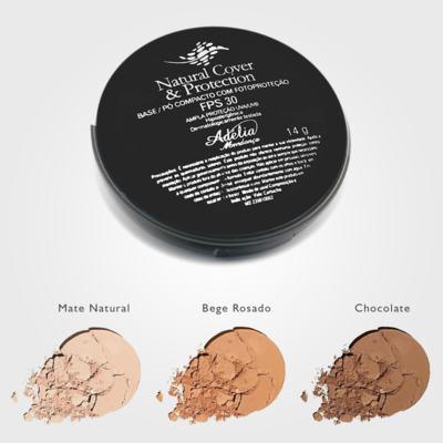 Imagem 2 do produto Natural Cover & Protection FPS 30 - Base/Pó compacto com fotoproteção FPS 30 - Chocolate