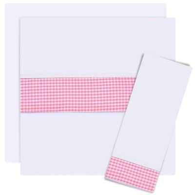 Imagem 1 do produto Jogo de lençol para berço em malha Le Petit Rosa - Classic for Baby