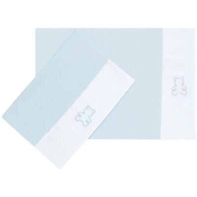 Imagem 1 do produto Kit 2 Fronhas em malha Azul - Classic for Baby
