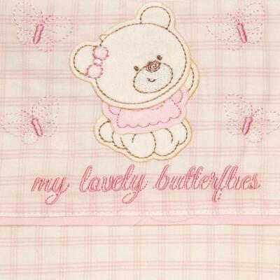 Imagem 2 do produto Jogo de lençol para carrinho em malha Butterflies - Classic for Baby