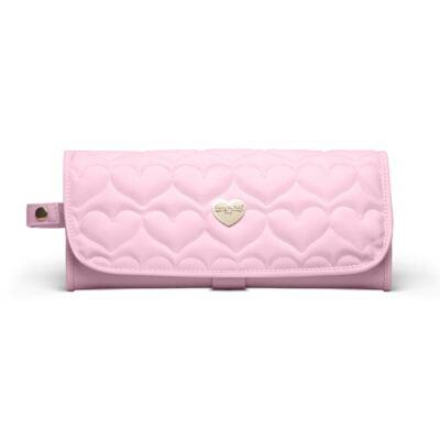 Imagem 4 do produto Bolsa maternidade para bebe Málaga + Frasqueira Valencia + Kit Acessórios + Trocador Portátil Corações Matelassê Rosa -  Classic for Baby Bags