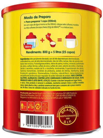 Imagem 3 do produto Composto Lácteo Nestlé Ninho Fases 1+ Lata 800g