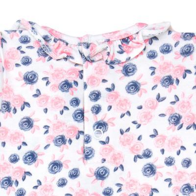Imagem 2 do produto Body curto para bebê em cotton Flourish - Mini Sailor - 01104440 BODY M/C C/BABADO NA GOLA COTTON FLORAL-3-6