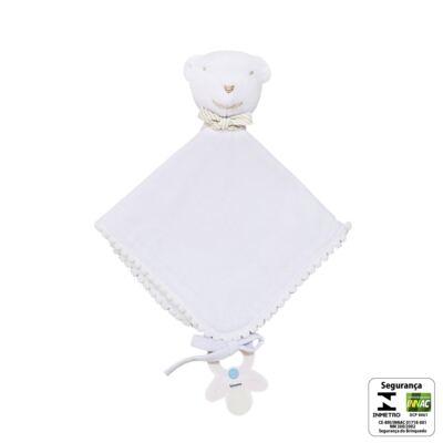Imagem 2 do produto Naninha para bebe em malha Ursinho Branco - Biramar Baby