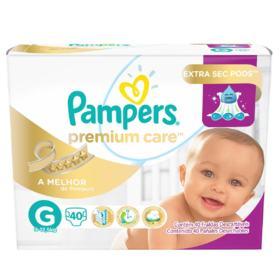 Fralda Pampers Premium Care Mega - G | 40 unidades