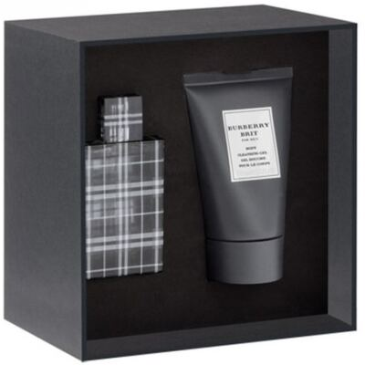 Brit For Men Burberry - Masculino - Eau de Toilette - Perfume + Gel para Banho - Kit