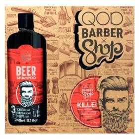QOD Barber Shop Kit - Pomada Killer + Shampoo Beer - Kit