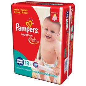 Fralda Pampers Confortsec - XXG | 18 unidades