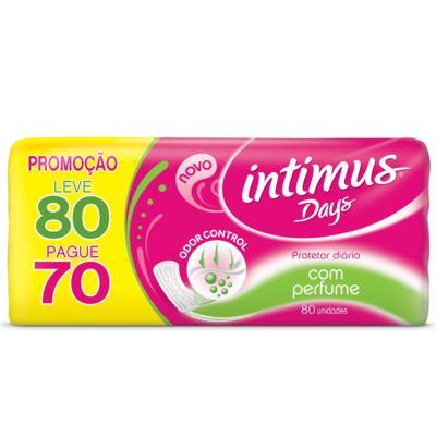 Absorvente Intimus Days Odor Control com Perfume 80 Unidades
