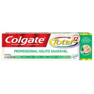 Imagem 2 do produto Creme Dental Colgate Total 12 Professional Hálito Saudável 70g