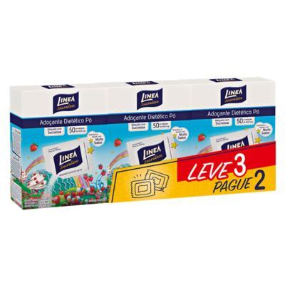 Imagem 1 do produto Adoçante Linea Pó 8g 50 Envelopes 3 Caixas