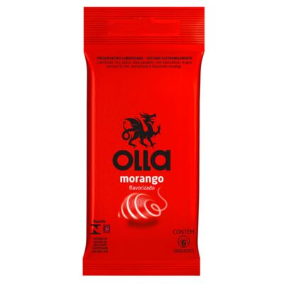 Preservativo Olla Morango 6 Unidades