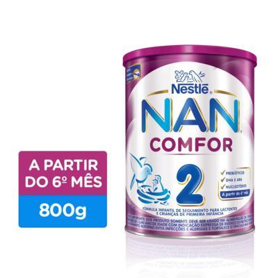Imagem 1 do produto Fórmula Infantil NAN COMFOR 2 Lata 800g
