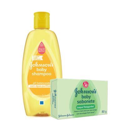 Kit Johnson's Baby Shampoo 200ml + Sabonete Toque Fresquinho 80g