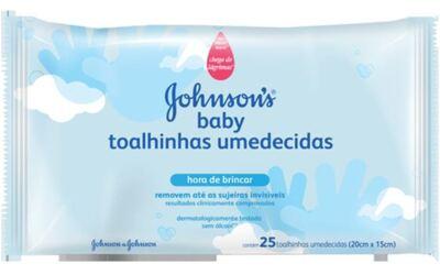 Lenço Umedecido Johnson's Baby Hora de Brincar 25 Unidades