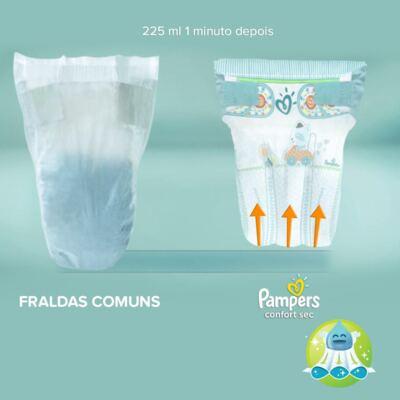 Imagem 6 do produto Fralda Descartável Pampers Confort Sec XXG 30 Unidades