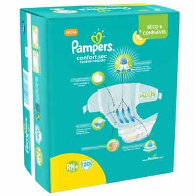 Imagem 10 do produto Fralda Pampers Confort Sec Tamanho RN - 20 unidades
