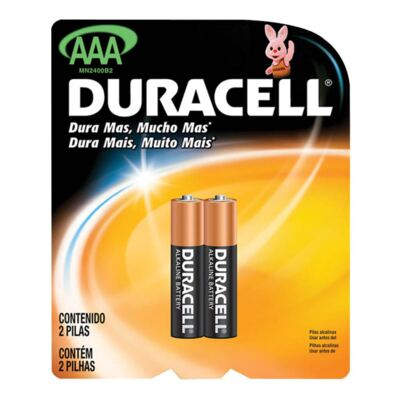 Imagem 1 do produto Pilha Duracell Palito AAA com 2 Unidades
