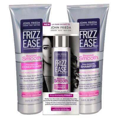 Kit Shampoo + Condicionador + Primer John Frieda Frizz Ease Beyond Smooth Frizz Immunity - Kit