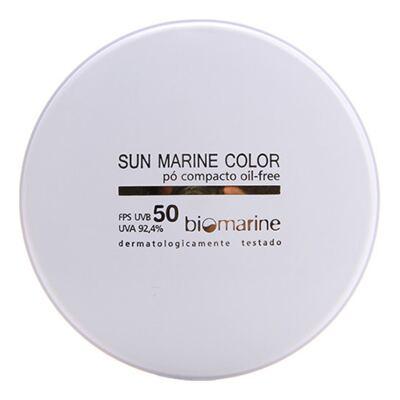 Imagem 1 do produto Sun Marine Color Compacto FPS50 Biomarine - Pó Compacto 12g - Bege