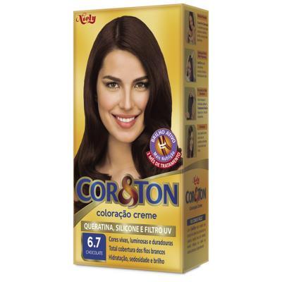 Imagem 1 do produto Kit Tintura Cor&Ton 6.7 Chocolate