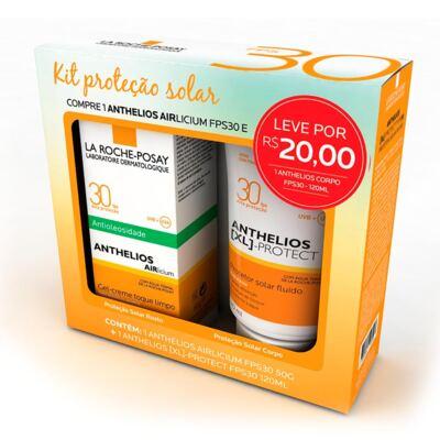 Imagem 1 do produto Kit Protetor Solar La Roche-Posay FPS30 Anthelios Airlicium 50g + XL-Protect 120ml