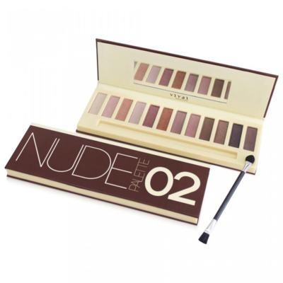Paleta de Sombras Nude Glamour 02 Vivai - 12 Cores