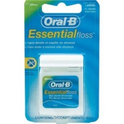 Fio Dental Oral-B Essential Floss Encerado Menta 50m