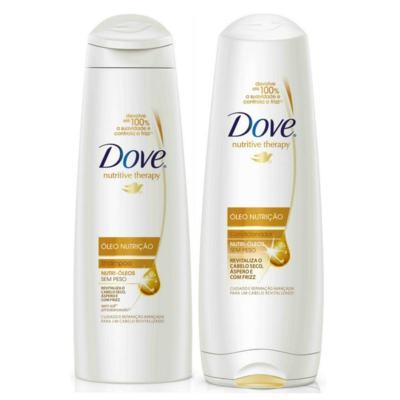 Imagem 2 do produto Kit Dove Óleo Nutrição Shampoo 400ml + Condicionador 400ml + Shampoo Dove Men Care 2 em 1 Força Resistente 400ml