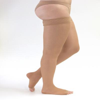 Imagem 1 do produto Meia Coxa 20-30 mmHg Sheer & Soft Medi - NATURAL III PONTEIRA ABERTA