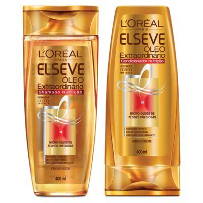 Kit Elseve Óleo Extraordinário Nutrição Shampoo 400ml + Condicionador 400ml