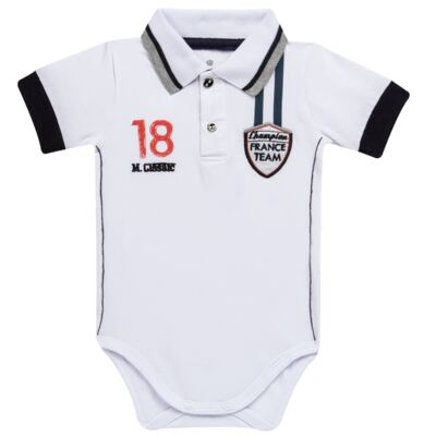 Body polo para bebe em cotton Racing - Mini & Classic - BDBP669 BODY POLO COTTON GRAND PRIX-P