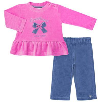Imagem 1 do produto Bata c/ Calça para bebe em plush Sweetheart - Baby Classic - 976891.186 CONJUNTO BATA COM CALÇA PLUSH PINK-M
