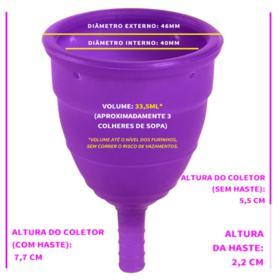 Coletor Menstrual Tipo A (+30 anos ou com filhos) Violeta Cup - Cuidados Íntimos - 1 Un