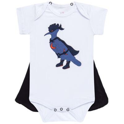 Body curto c/ Capa para bebe Justiceiro - Reserva Mini - RM23182 MACAQUINHO BB C CAPA PICA PAU JUSTICA-P
