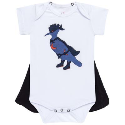 Body curto c/ Capa para bebe Justiceiro - Reserva Mini - RM23182 MACAQUINHO BB C CAPA PICA PAU JUSTICA-M
