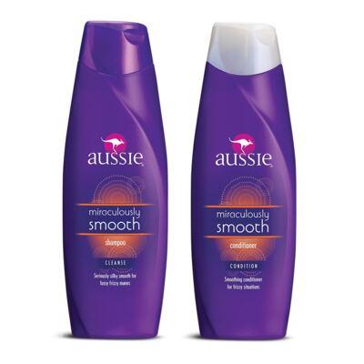 Kit Aussie Smooth Shampoo 400ml + Condicionador 400ml