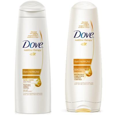 Kit Dove Óleo Nutrição Shampoo 400ml + Condicionador 400ml