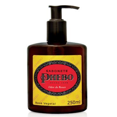 Imagem 2 do produto Sabonete Líquido Phebo Odor de Rosas 250ml 2 Unidades + Sabonete Phebo Amazonian 90g