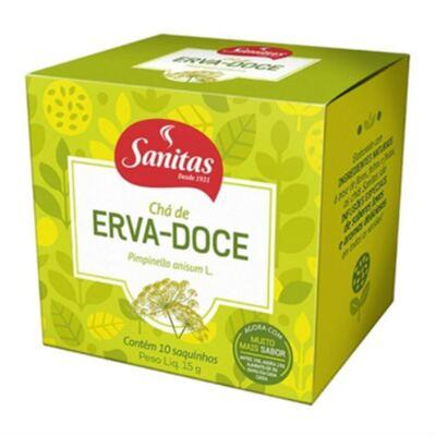 Chá de Erva-Doce Sanitas 10 Sachês