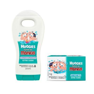 Shampoo Turma da Mônica Suave 200ml + Sabonete Turma da Mônica Huggies Suave 75g