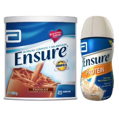 Imagem 1 do produto Complemento Alimentar Ensure Chocolate 400g + Ensure Protein Baunilha 220ml