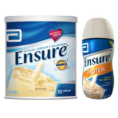 Imagem 1 do produto Complemento Alimentar Ensure Banana 400g + Ensure Protein Baunilha 220ml