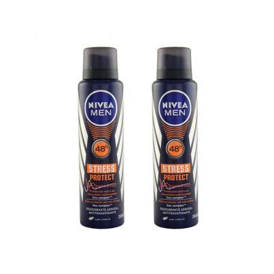 Imagem 1 do produto Desodorante Nivea Stress Protect Masculino Aerosol 90g 2 Unidades