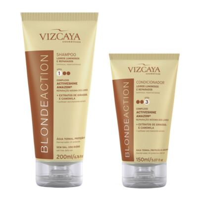 Imagem 1 do produto Kit Vizcaya Blonde Action Shampoo 200ml + Condicionador 150ml