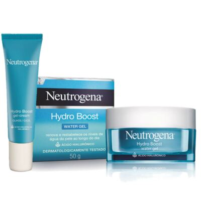 Kit Neutrogena Hydro Boost Hidratante Facial Water Gel + Gel Creme Hidratante Olhos 15g