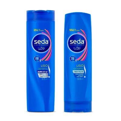 Kit Seda Liso Extremo Shampoo + Condicionador 325ml Grátis Creme de Tratamento