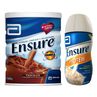 Complemento Alimentar Ensure Chocolate 900g + Protein Baunilha 220ml